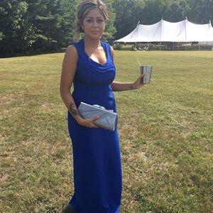 Calvin Klein Royal blue gown.